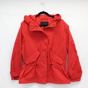 Coach Red Hooded Rain Jacket
